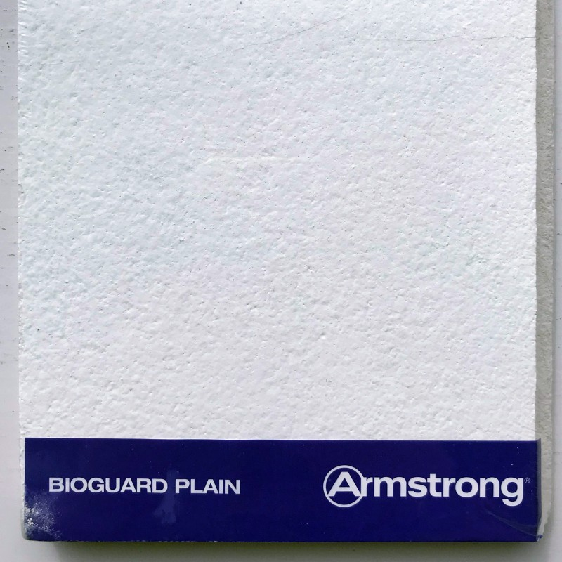 Armstrong Bioguard Plain Suspended Ceiling Tiles 600x600mm